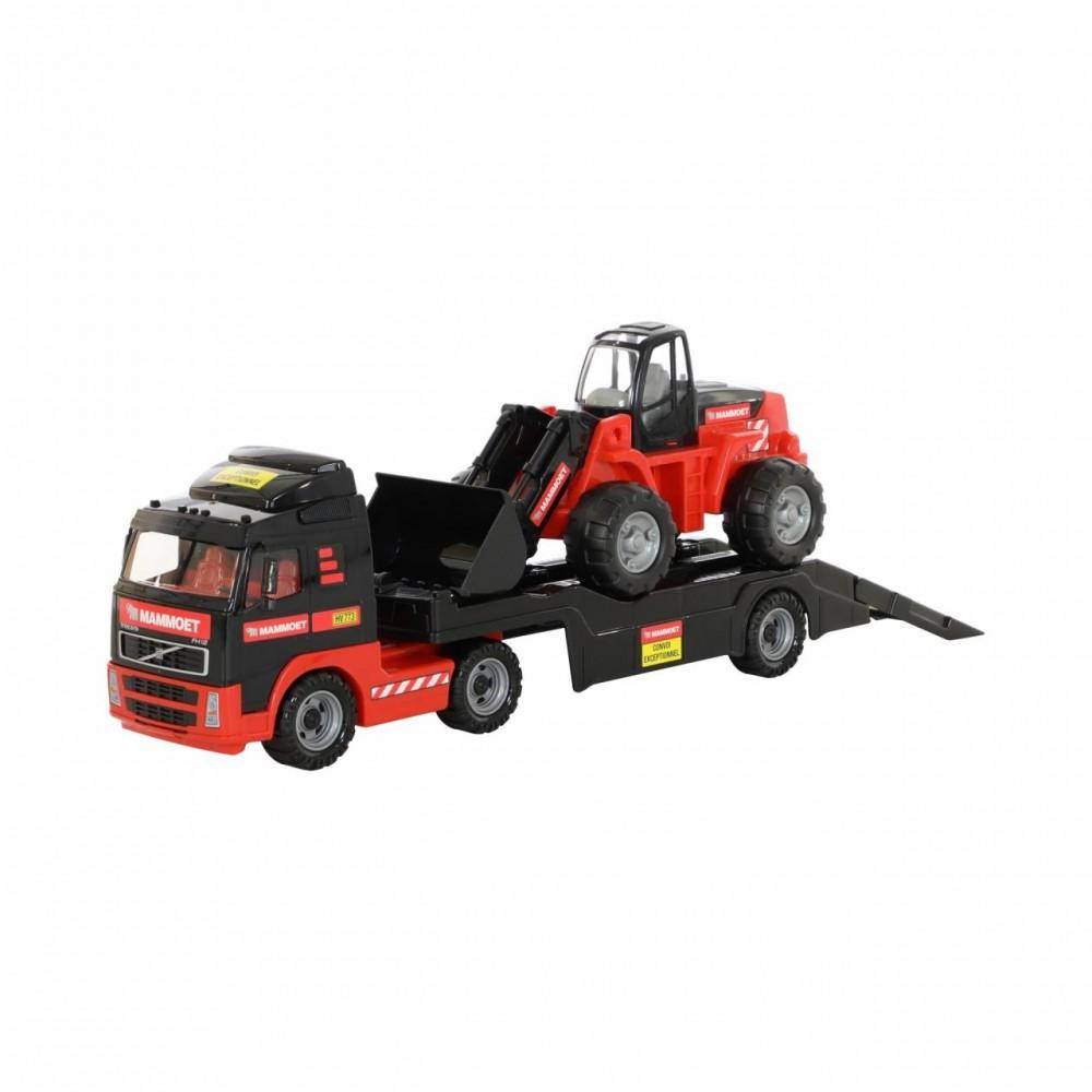 kamion polesie 56733 s buldozerom