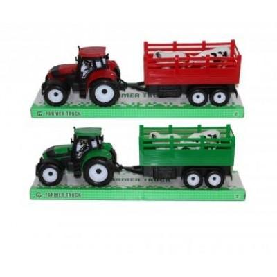 Traktor s vlečkou a zvier. - M6055